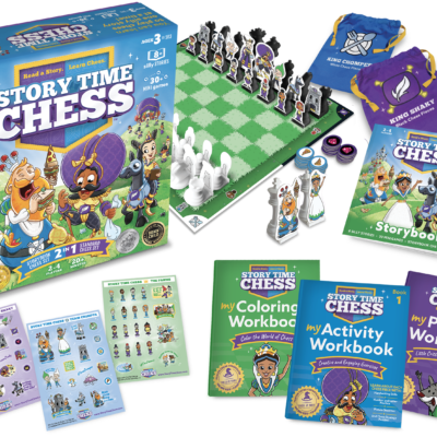 Story Time Chess Game + Workbooks + Stickers Bundle